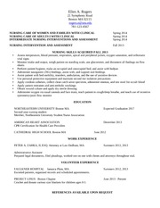First nursing resume Clinical SP 2014
