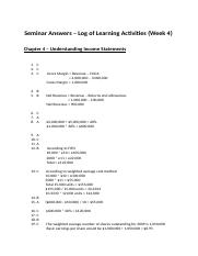 Seminar Answers - Chapter 4 (Log of learning activitives).docx