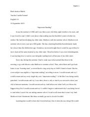 How I Learned to Read- Literacy Narative Draft