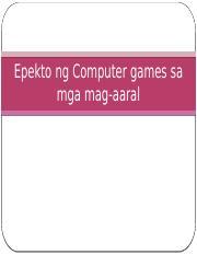 epekto ng computer games sa pag aaral thesis