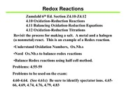 Lecture 4C on Redox Reactions