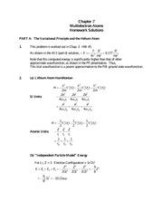 Quantum mechanics homework solutions