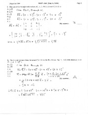 MATH 1341 Summer 2006 Diagnostic Test Solutions