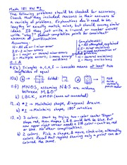 Homework 1 Solution on GEOMETRY FOR ELEMENTARY TEACHERS