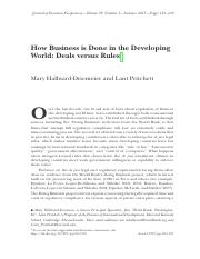 FIN4651 Module5 Reading0 - How Business is Done in the Developing