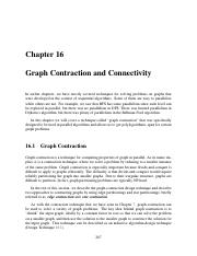 16 Graph Contraction and Connectivity