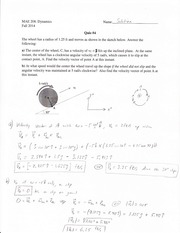 Quiz 4_MAE208_Fall 14 SOLUTION
