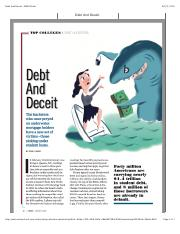 Debt And Deceit