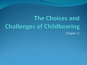 The Choices and Challenges of Childbearing