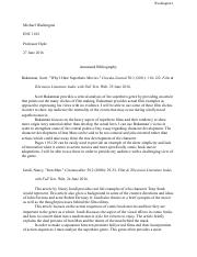 Annotated Bibliography - Google Docs
