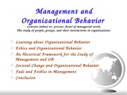 ManagementOrgBehavior