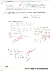 Matrices Test