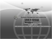 Business Management and Leadership_Unit4_GP