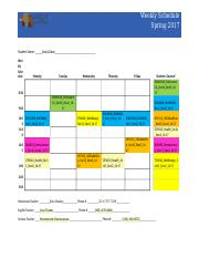 ORN010B_WeeklySchedule Assignment_Day1