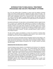Wastewater treatment introduction