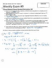 ENG 103 Winter 2014 SKR Weekly Exam 9 Solution