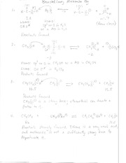Bronsted-Lowry Equilibria and Mechanism Problem Set Solution