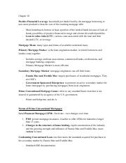 REAL 370 - Principles of Real Estate - Chapter 10 Notes