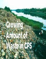 Growing Amount of Waste in CPS