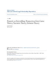 Property as Storytelling- Perspectives from Game Theory Narrativ