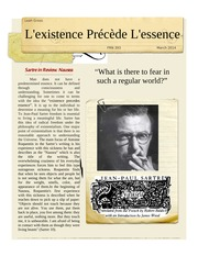 Nausea - Sartre Newspaper