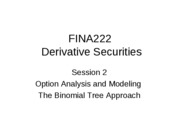 Derivatives09-2 - Option Analysis and Modeling