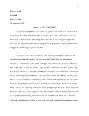 the shawl short story summary