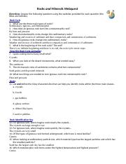 Rocks and Minerals Webquest.pdf - Name Rocks and Minerals ...
