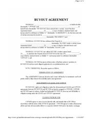 Buy Out agreement