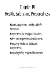 Chapter 10 Health Safety and Preparedness PPT_proofed.pptx