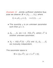 Lecture on sufficient statistics and definition of likelihood function