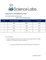 Lab 6 Cellular Respiration Exp 1 Tables and Questions Fall 2015(2) (4) finished.docx