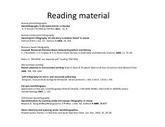 reading material week 2 3 and 4