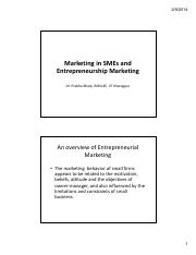 Marketing in SMEs and Entrepreneurship Marketing [Compatibility Mode] (2)