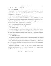 MAC2241 Life Science Calc 1, Chapter 4 Part 3 Notes The Chain Rule