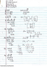 Intro Algebra I Substitution Practice Problems