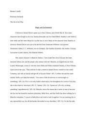 A Streetcar Named Desire Paper