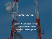 Lecture_3-3D_Cartesian_Vector