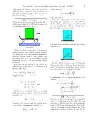 statics and elasticity (solutions)