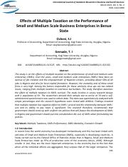 Effects_of_Multiple_Taxation_on_the_Performance_of_Small_and_Medium_Scale_Business_Enterprises_in_Be