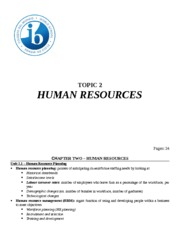 Topic 2 - Human Resources