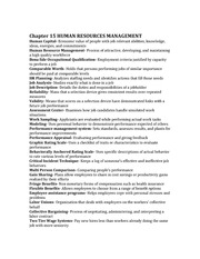 Chapter 15 HUMAN RESOURCES MANAGEMENT