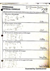determining empirical formulas - Scanned by CamScanner Scanned by ...