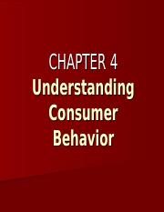 BUSMKT 1040 Chapter 4 Understanding Consumer Behavior.ppt