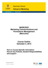 MARK2053 S2-2015 - Course outline FINAL