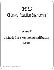Lecture 19 - Unsteady-State Non-Isothermal Reactor (1)