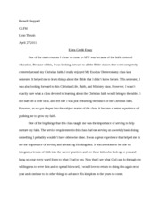 Extra Credit Paper