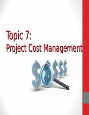 Lec 6 - Project Cost Mgmt (Dian)