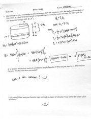 Extra Credit Solutions Math 180