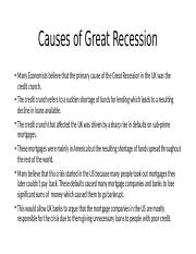 causes of great recession